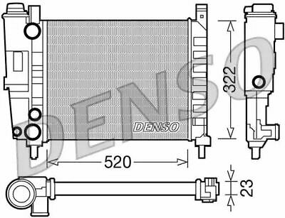 Denso Radiator DRM09144 Replaces 773221-7075124-7685063-7739955 61852