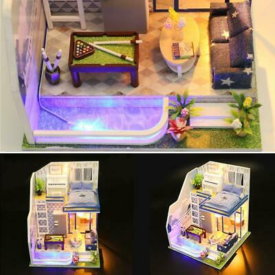 DIY Wooden House Miniaturas with Furniture DIY Miniature House Dollhouse PRO#