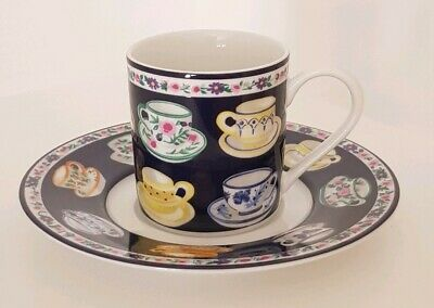 Whittard of Chelsea Fine Porcelain Espresso Cup and Saucer - Teacups