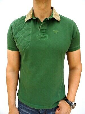 Barbour Men's Green Pheasant Warkworth Short Sleeve Polo Top Size Large #4260