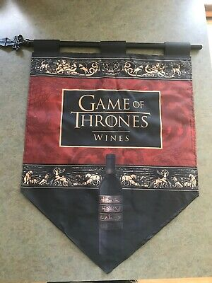 Game Of Thrones Wine Banner Flag  With Metal Spike Holder 🔥