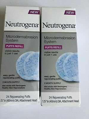 Neutrogena microdermabrasion system puff refills-24 ea box-LOT OF 2-48 Total