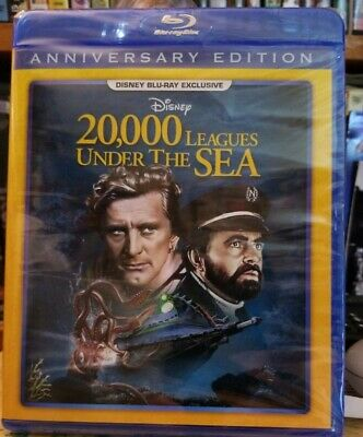 Disney 20,000 Leagues Under the Sea Blu-ray NEW, SEALED First time on blu-ray