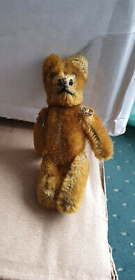 V.Rare Vintage Schuco Janus teddy bear two face Yes/No made in Germany cica 1950