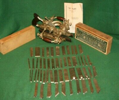 Amazing Stanley No.55 Combination Plane 56 Cutters and Tower Attachment Inv#FL01