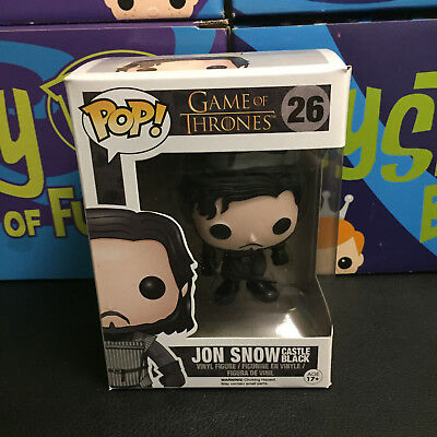 FUNKO POP GAME OF THRONES # 26 JON SNOW (CASTLE BLACK) HBO TV SERIES GoT