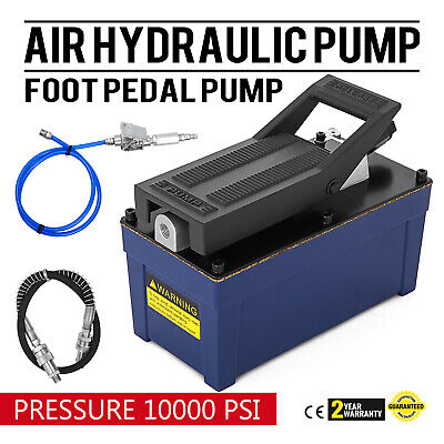 Air Powered Hydraulic Foot Pump 10,000 PSI Release pressure Rubber Power