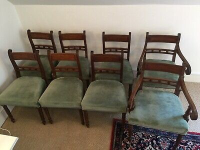 Set of 8 antique dining chairs