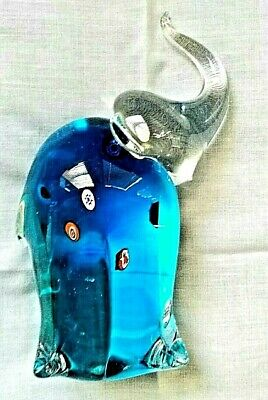 MURANO MILLEFIORI ELEPHANT FIGURINE iTALIAN ART GLASS - superb