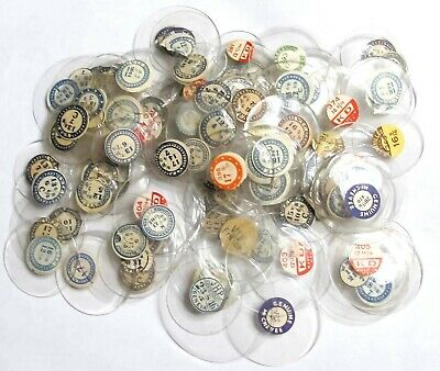 Bulk Lot - 100+ Very Nice Nos Assorted Glass Pocket Watch Crystals (T33)