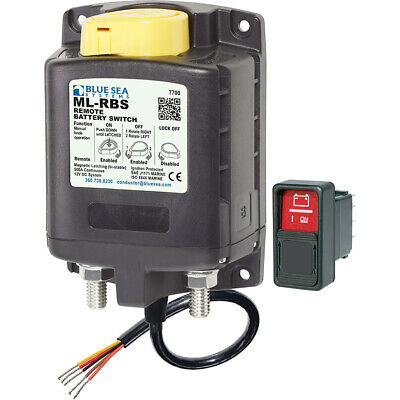 Blue Sea 7700 ML-Series Remote Battery Switch w/Manual Control 12VDC 7700