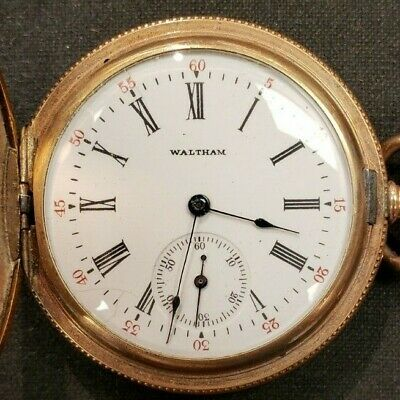 Gold Filled Size 6 Waltham Pocket Watch 15 Jewels with Fancy Case
