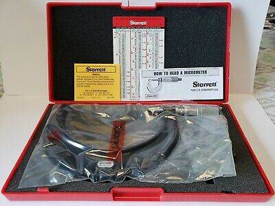 "Starrett 4-5"" T436.1XFL-4 Micrometer carbide tenths .0001"" increments friction"