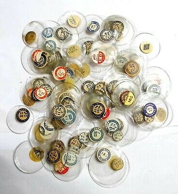 Deal Lot - 100+ Very Nice Nos Assorted Glass Pocket Watch Crystals (C1)