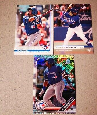 (3)Vladimir Guerrero Jr 2019 Topps Series 2 No#RC,Topps Now Expo,MOJO Refractor