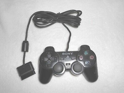 Sony Playstation  Black 2 Dualshock 2 Analog Wired Controller SCPH-10010