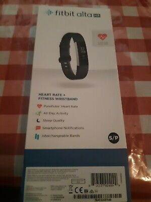 Fitbit Alta HR Activity Fitness Tracker Heart Rate Watch Wristband Black Small