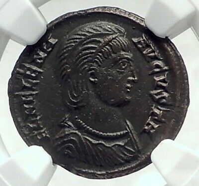 Saint HELENA Mother of CONSTANTINE the GREAT 324AD Ancient Roman Coin NGC i79652