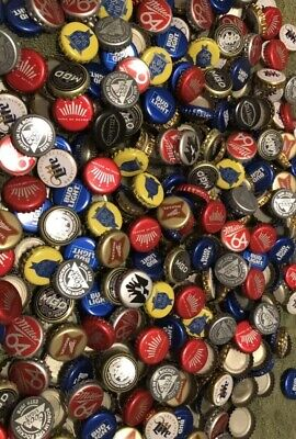 500 Plus Beer Bottle Caps No Dents Clean Hand Washed Bright Beautiful Colors