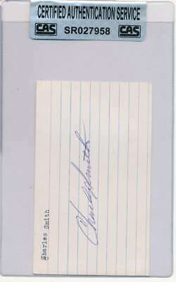 CHARLES SMITH SIGNED 3x5 INDEX CARD AUTO AUTOGRAPH CAS CERTIFIED AU5320