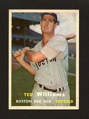 1957 Topps #1 Ted Williams Boston Red Sox HoF CENTERED - TOUGH #1 CARD - EX-MT+