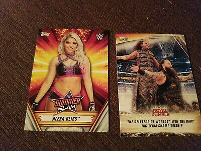 2019 Topps WWE SummerSlam alexa bliss     and action card