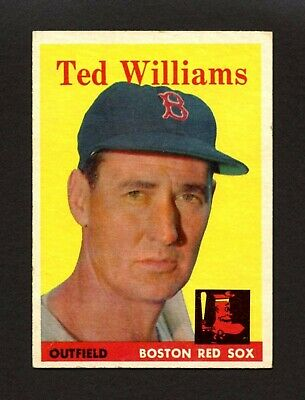 1958 Topps #1 Ted Williams - Boston Red Sox Hall of Fame HoF - #1 CARD - VG-EX