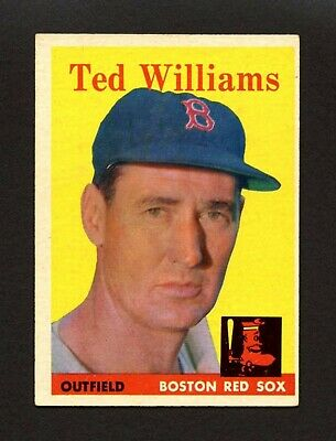 1958 Topps #1 Ted Williams - Boston Red Sox Hall of Fame HoF - #1 CARD - EX+