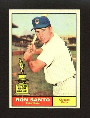 1961 Topps #35 Ron Santo - Chicago Cubs Hall of Fame HoF ROOKIE RC - NM+