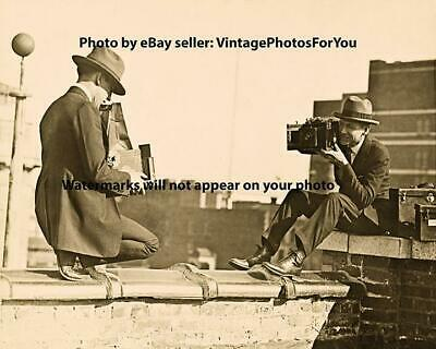 Old Antique Funny Weird Strange Odd Photographers Photographing Each Other Photo