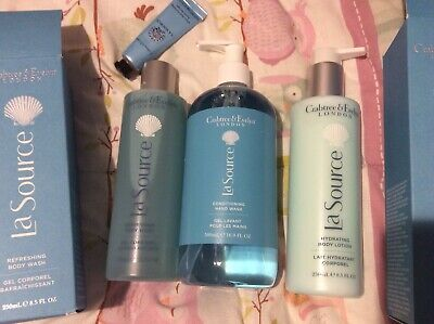 Lot 7 CRABTREE & EVELYN LA SOURCE Body Wash Lotion Soaps Spray Oil Hand Therapy!