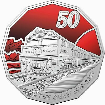 Australia 2019 50 Cents - The Ghan Train Coloured Uncirculated Coin In Stock Now
