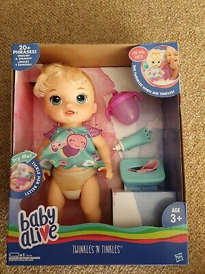 Baby Alive Twinkles 'N Tinkles Doll. Change, Feed And Clean Her. 20 Phrases. New