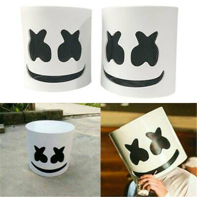 1X MarshMello DJ Mask Full Head Helmet Halloween Cosplay Bar Music Props Costume