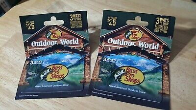 $50 Bass Pro Shops & Cabela's stores in the form of (2) $25 Gift Cards