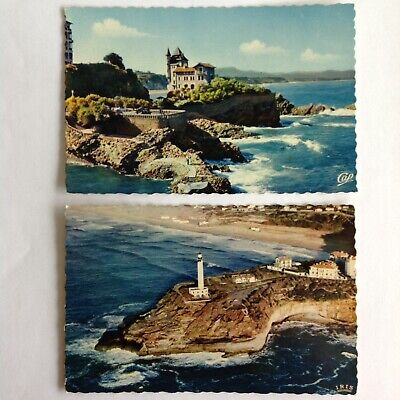 2-cd lot~Biarritz France~Phare~lighthouse~aerial view~Chambre dAmour~Villa Belza