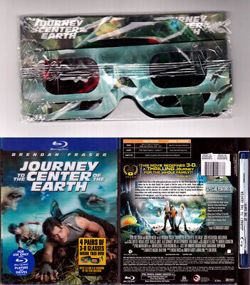 Blu-ray JOURNEY TO CENTER OF THE EARTH + Lenticular SLIPCOVER + 3D Glasses Reg A