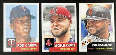 2019 Topps Living Set Rod Carew #202 Michael Chavis #203 Pablo Sandoval #204 SP