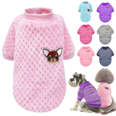 Cute Dogs Winter Clothes Soft Pet Puppy Sweater Dog Cat Jumper Coat Warm Apparel