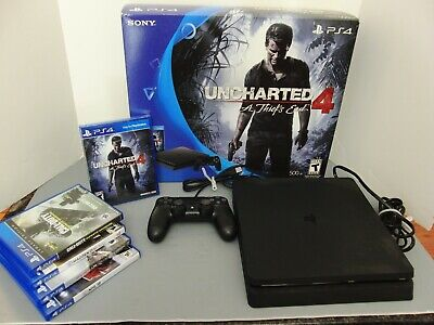 SONY PlayStation 4 - PS4 Slim console with controller and 5 games **NO RESERVE**