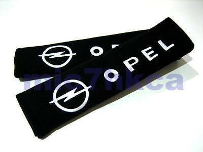 2x soft car seat belt harness cushion shoulder cover pads for OPEL (UK stock)