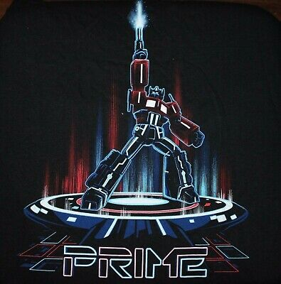 Loot Crate June 2015 Cyber Exclusive - Prime Tshirt Transformers TRON Mens L NEW