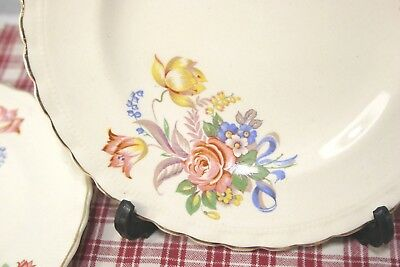 LOT of 5 J.&G. Meakin SOL Bread & Butter Plates Floral, pink rose. 391413
