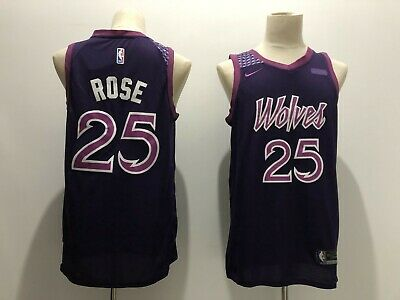 pretty nice 1df65 bc21e DERRICK ROSE #25 Minnesota Timberwolves Black Mens Throwback ...