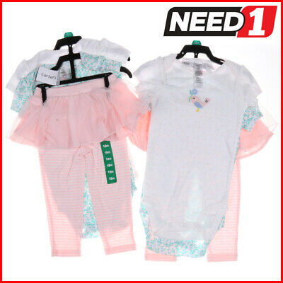 Carter's 3pc Baby Girl's Clothing Set: Leggings with Tutu & Matching Bodysuits
