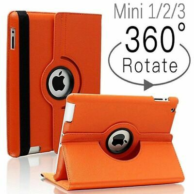iPad Mini Case 360 Degrees Rotating Flip PU Leather Case Smart Tablet Cover Skin