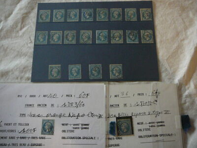 France  Stamps Good Lot Used Napoleon Heads