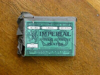 "Imperial Special Sensitive Plates 4 1/4"" x 3 1/4"", vintage photography"