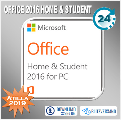 Office 2016 Home & Student [H&S] - 32&64 Bits - Direkt per E-Mail
