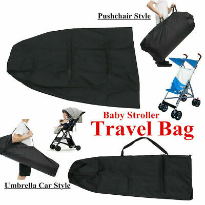 Pram Gate Check Travel Bag Umbrella Stroller Pushchair Buggy Cover AU Q9O4J